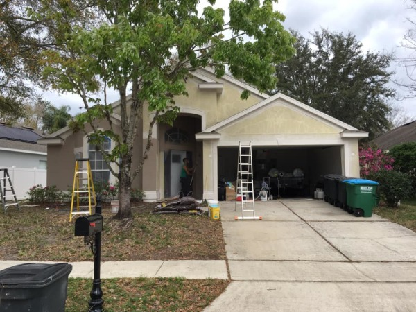 In Progress Exterior Painting Lake Mary Florida