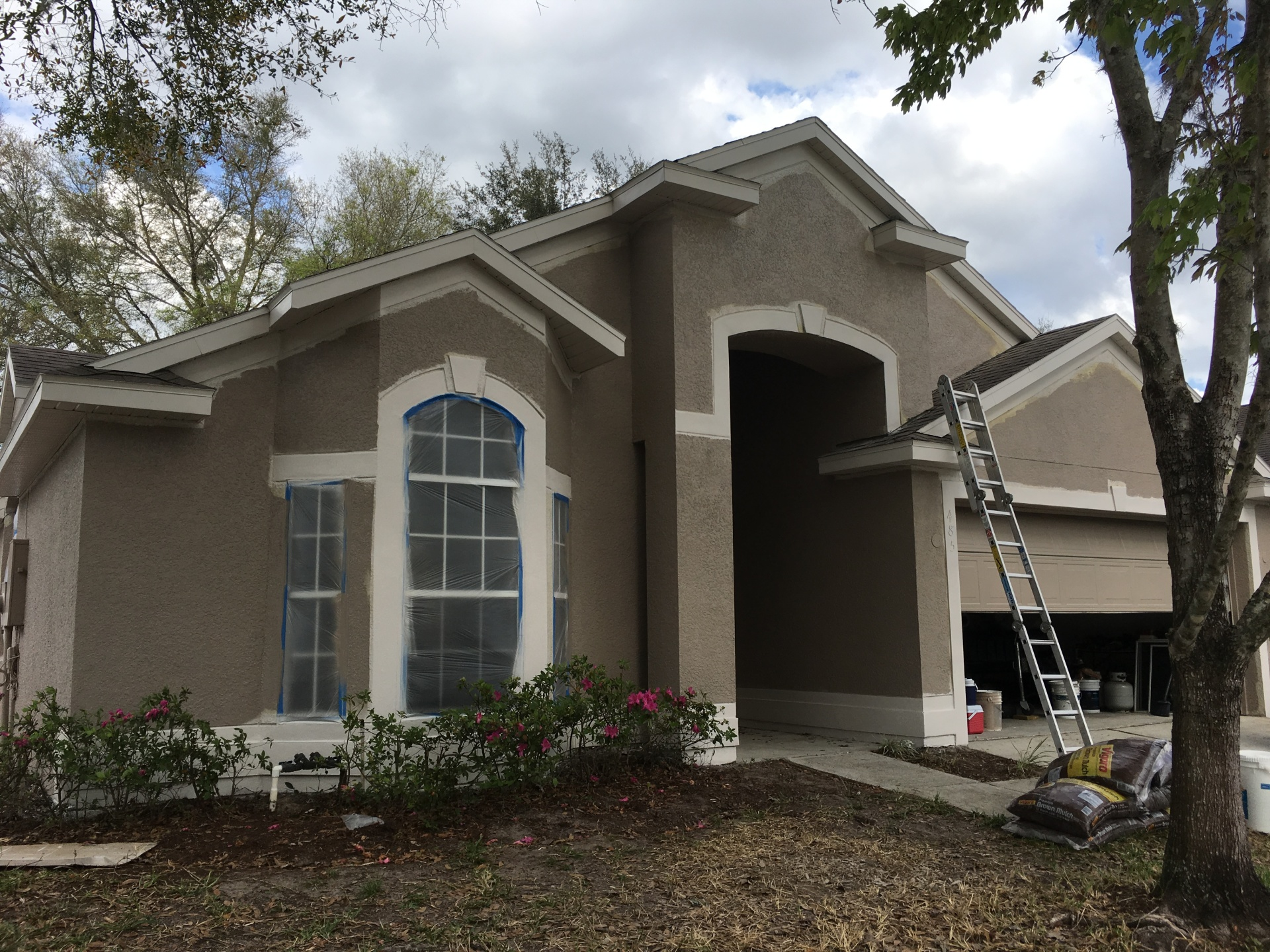 In progress Exterior Painting Lake Mary Heathrow Florida